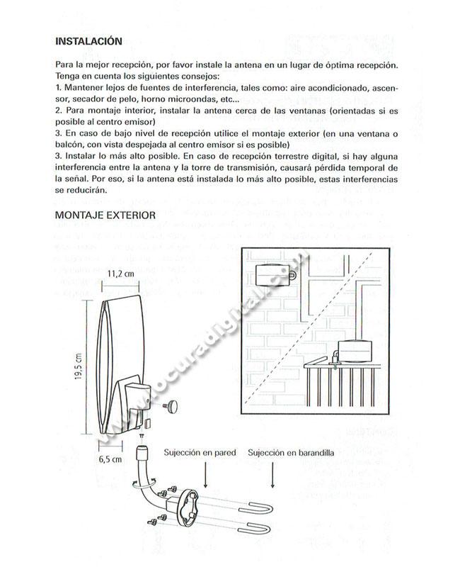 Axil AN0264L Antena Electronica TV Dig Terrestre Exterior.