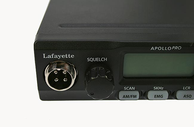 lafayette apollo black. emisora cb 27 mhz. color negro.