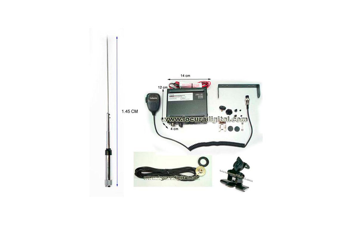 ARESBLACK KITC. Emisora CB 27 Mhz marca LAFAYETTE modelo ARES BLACK. AM/FM 4 Watios. Color NEGRO.  +