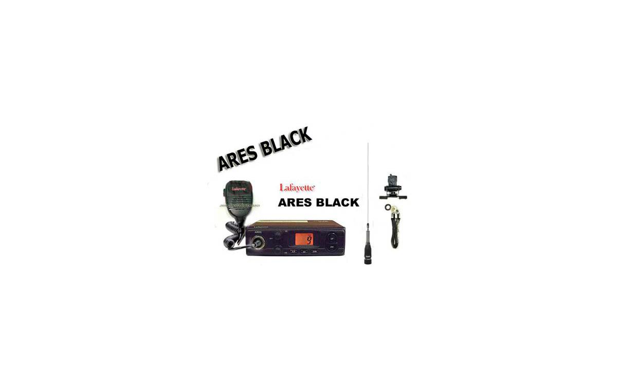 ARESBLACK KITD. Emisora CB 27 Mhz marca LAFAYETTE modelo ARES BLACK. AM/FM 4 Watios. Color NEGRO.  +