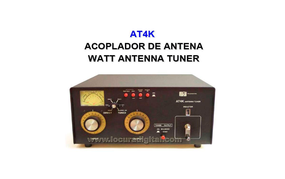 Palstar AT-4 K Acoplador de Antena  con medidor. Potencia maxima  2500 Watios