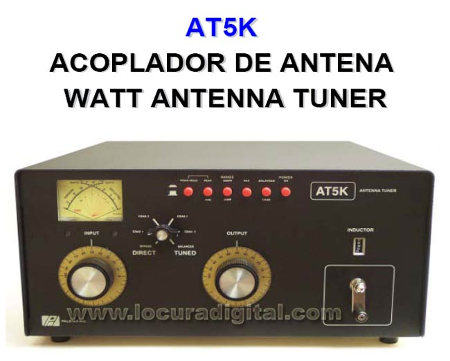Palstar AT Meter K-5 Antena acoplador. 5000 Watts de pot?ia m?ma
