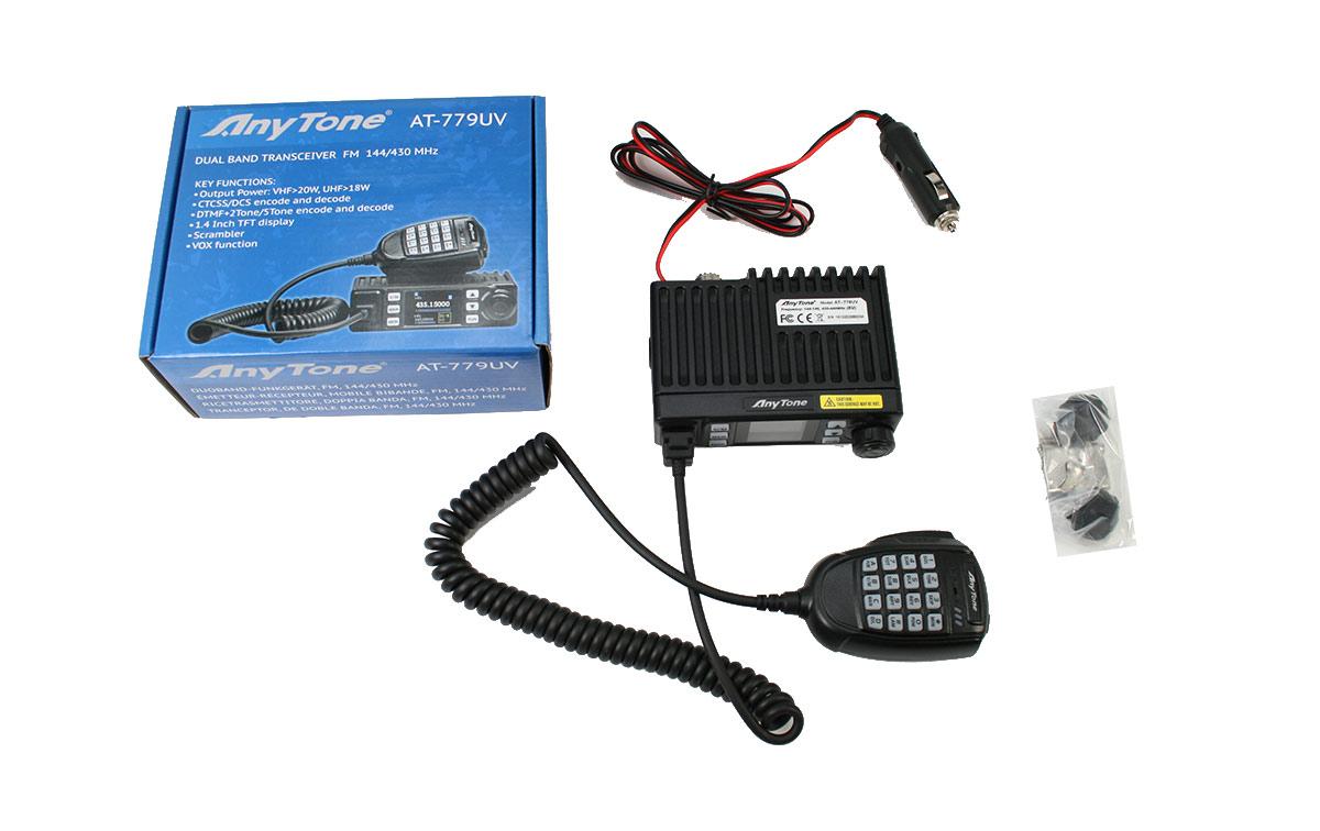 ANYTONE AT-779 Emisora movil bibanda VHF/UHF144-146 Mhz y 430 -446 Mhz potencia 25 Watios. Transceptor móvil VHF/UHF radioaficionado.