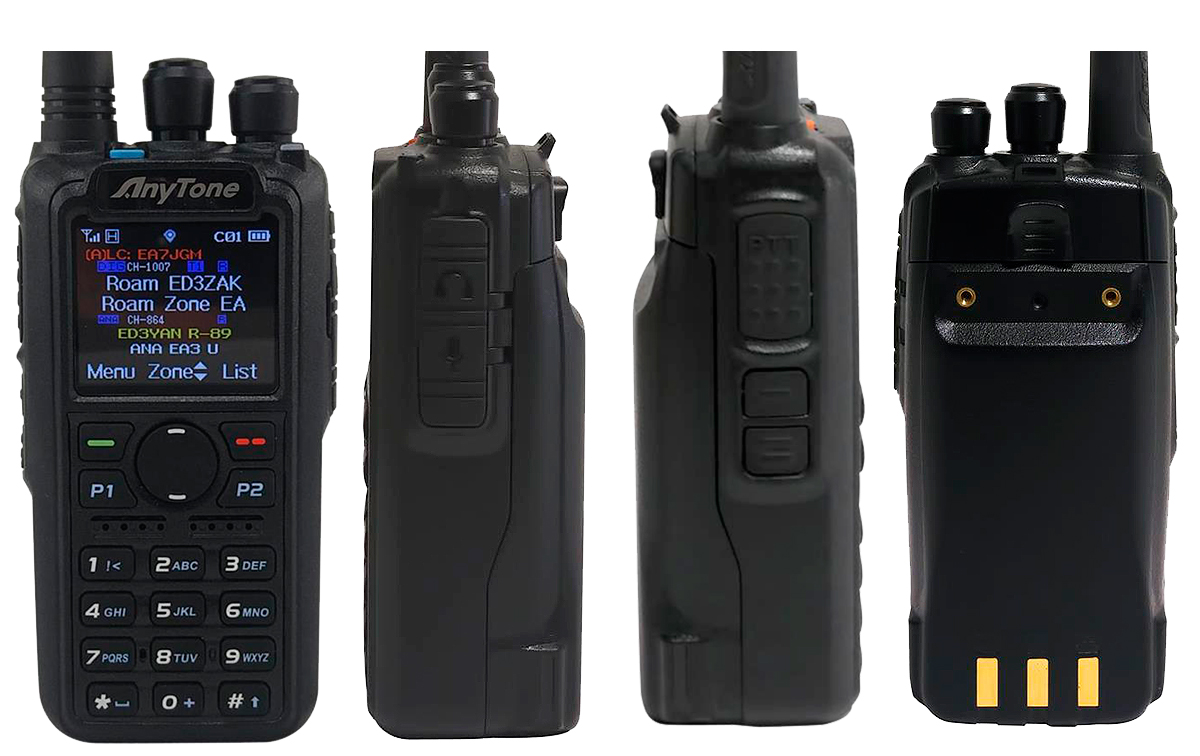 ANYTONE AT-D878UV Walkie DMR radioaficion 144/430 Mhz con APRS digital y analógico Roaming compatible con MOTOTRBO Tier 1 y 2.