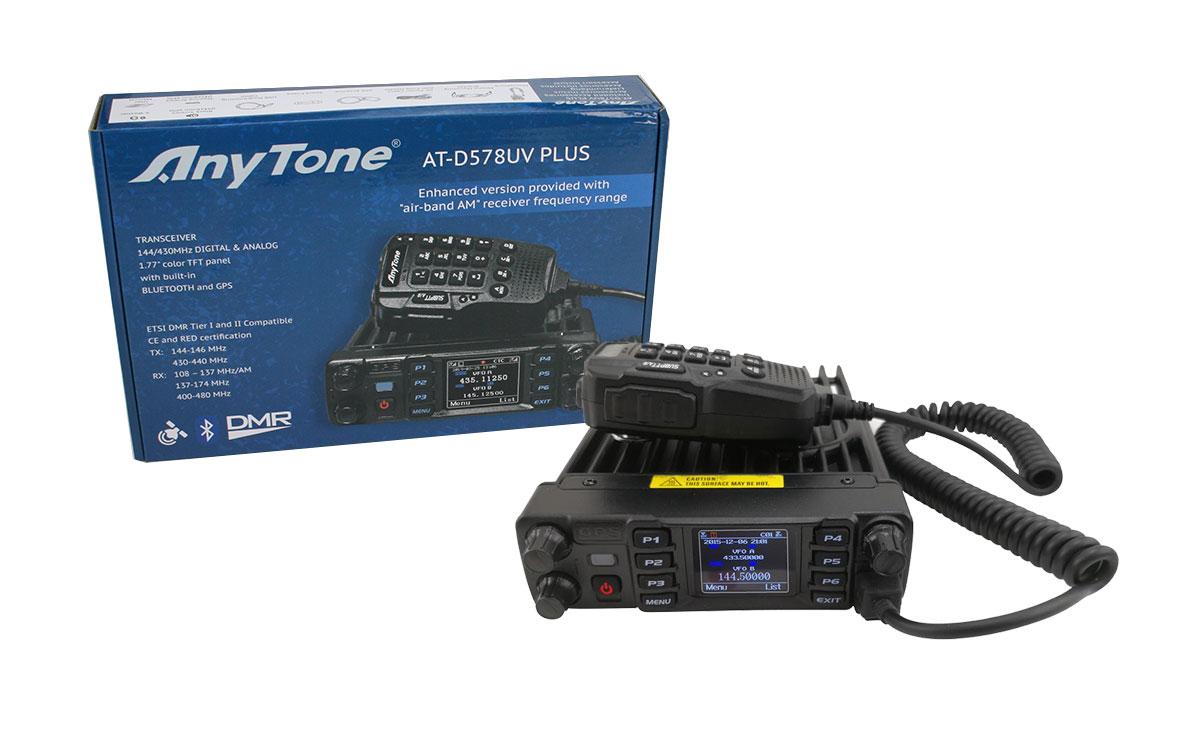 ANYTONE ATD-578UV PLUS Emisora Analogica y Digital DMR, 144/430 Mhz