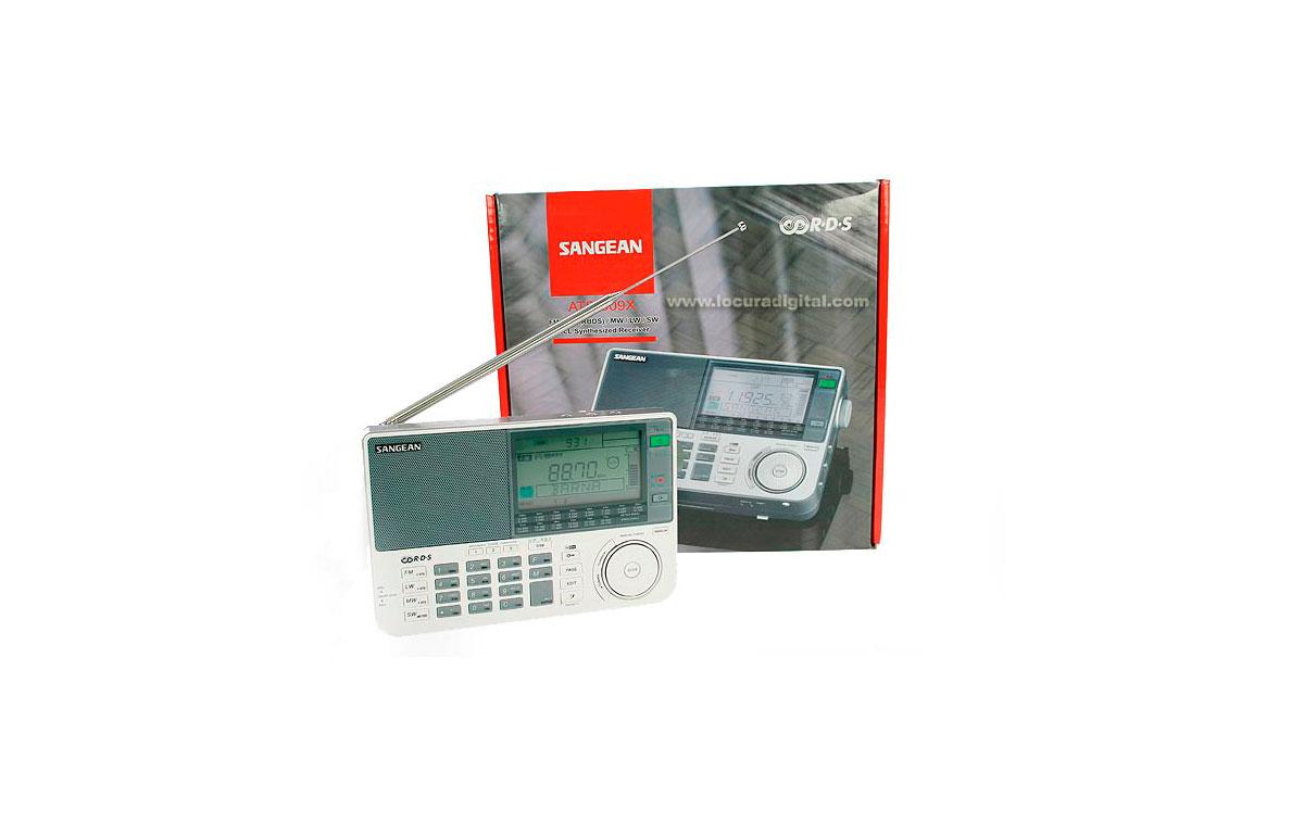 ATS909-X WHITE SANGEAN Receptor scaner continuo de  153 kHZ - 29999 kHZ. Color BLANCO