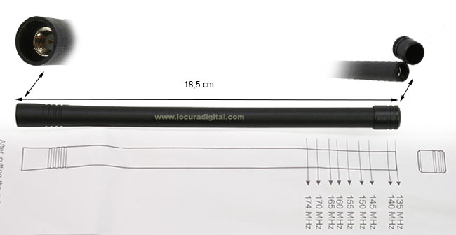 ajustable desde 135 mhz a 174 mhz,