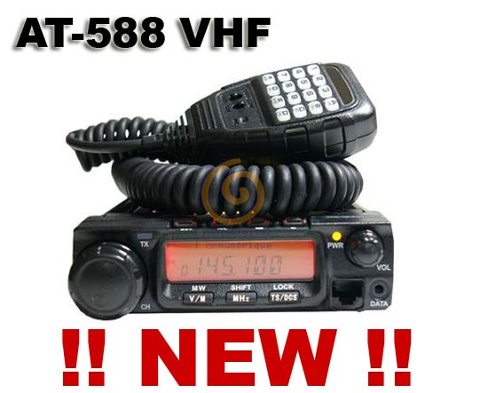 AT-588 EMISORA MOVIL VHF 144 MHZ POTENCIA  60 WATIOS.
