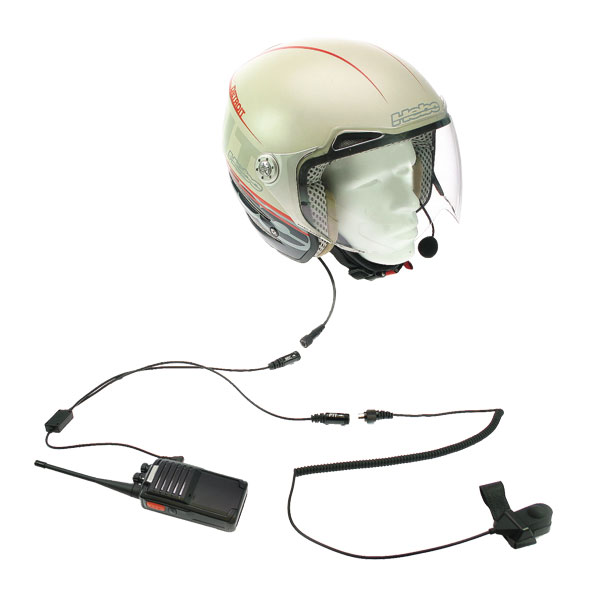 NAUZER KIM 66 M2. Kit moto casco no integral para walkies MOTOROLA y COBRA.