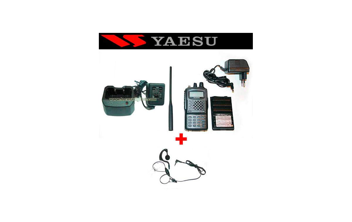 Walkie doble banda VHF/UHF YAESU FT-60E CARGADOR LENTO + PINGANILLO DE REGALO