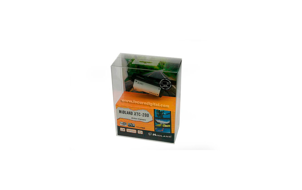 XTC-200WP MINI CAMARA C/FUNDA Resolución: 1280x720 pixeles  HD incluye carcasa sumergible.