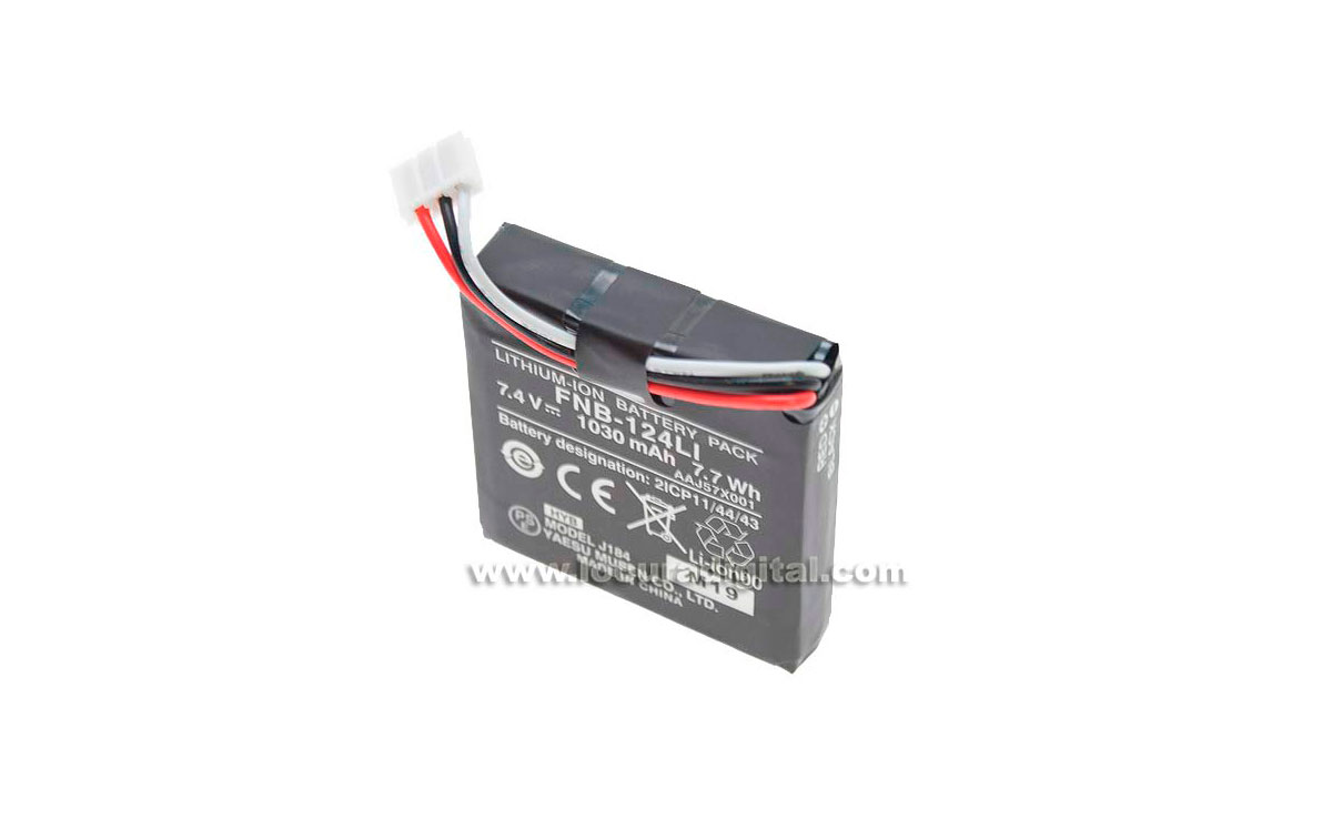 fnb124li bateria yaesu original ft-252 capacidad 1030 mah. para walkie ft-252