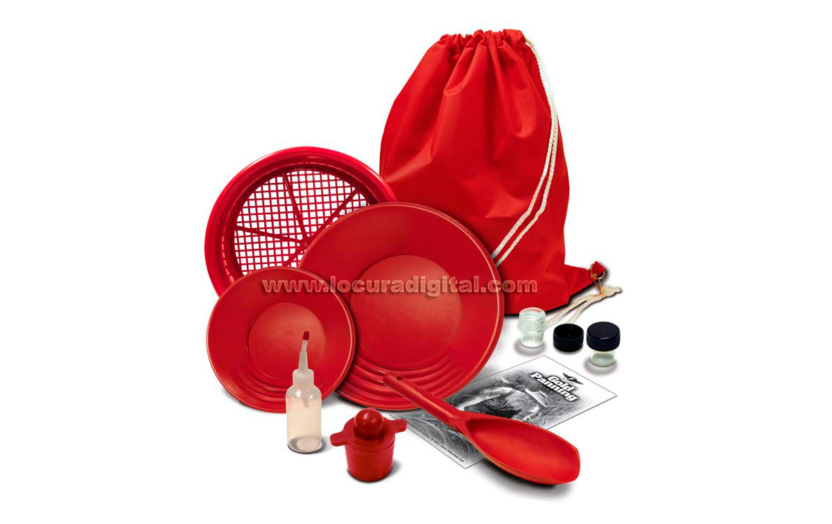FISHER LUXE  Prospecting kit busqueda ORO, bateas y complementos