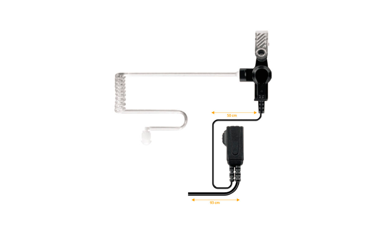 Nauzan PIN-39 M-Micro-Auricular tubular com PTT especial para ambientes ruidosos