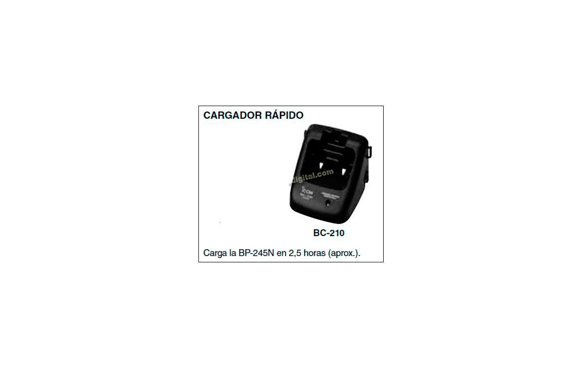 BC-210 Cargador para  walkie IC-M73 y bateria BP-245