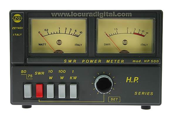 HP500 ZETAGI medidor de ROE/WATIMETRO de 3 a 200 Mhz. 2.000 watios