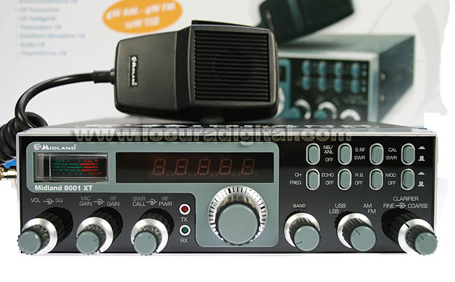ALAN-MIDLAND 8001 XT. CB Transceiver AM / FM / SSB! NEW MODEL for 2012!