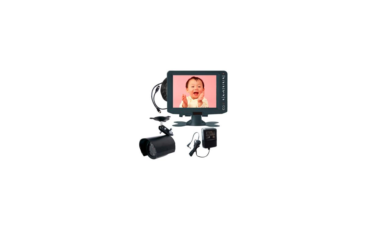 DF-1101 Sistema video vigilancia + Monitor 5 pulgadas + 1 cámara resistente al agua y visión nocturn