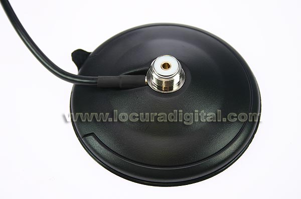 magnetic base high pressure suction pad. 100 mm. 4,5 mts. rg58.