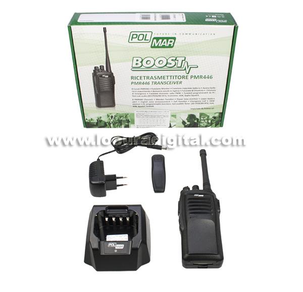 polmar boost walkie talkie pmr446 uso libre profesional 16 canales.