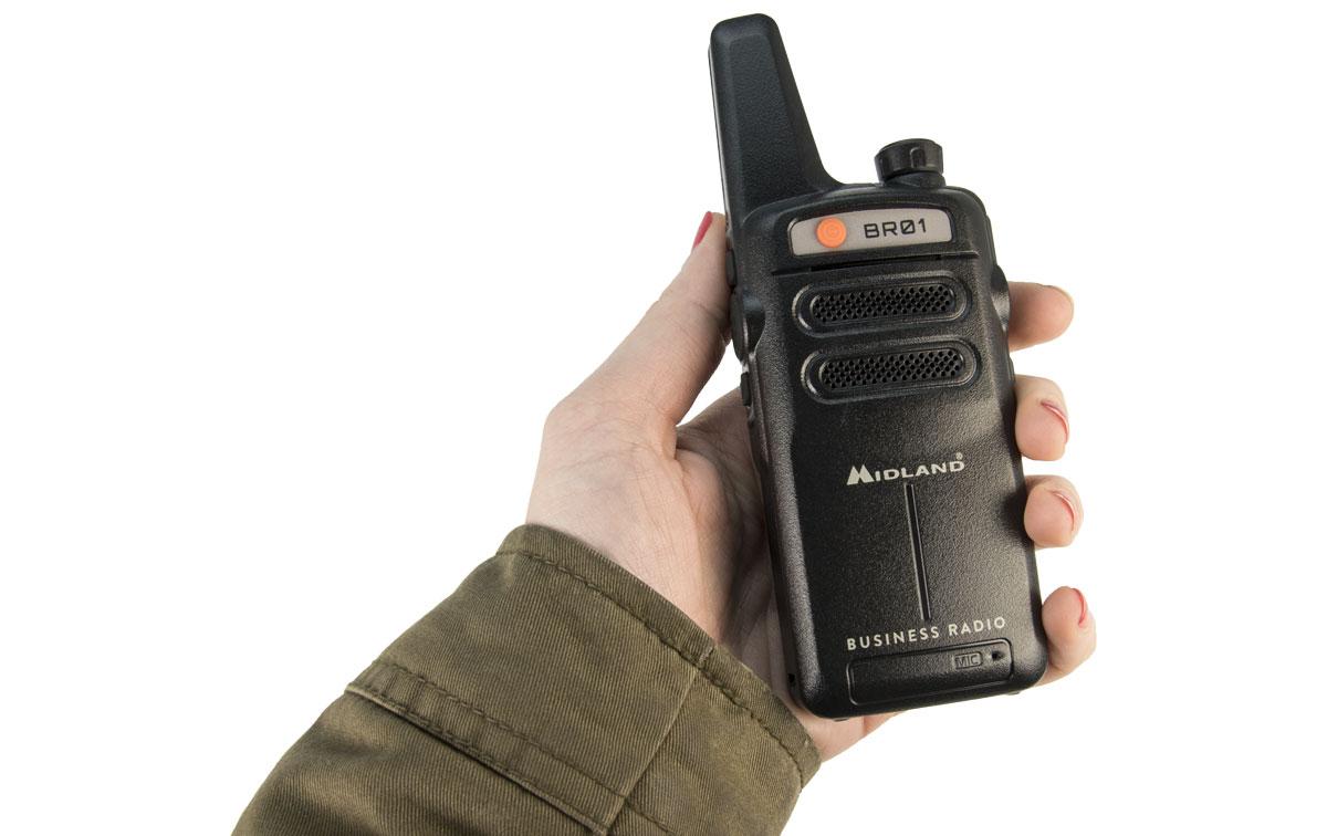 MIDLAND-BR01 Walkie PMR446 Buisness Radio. La radio profesional más robusta y resistente.