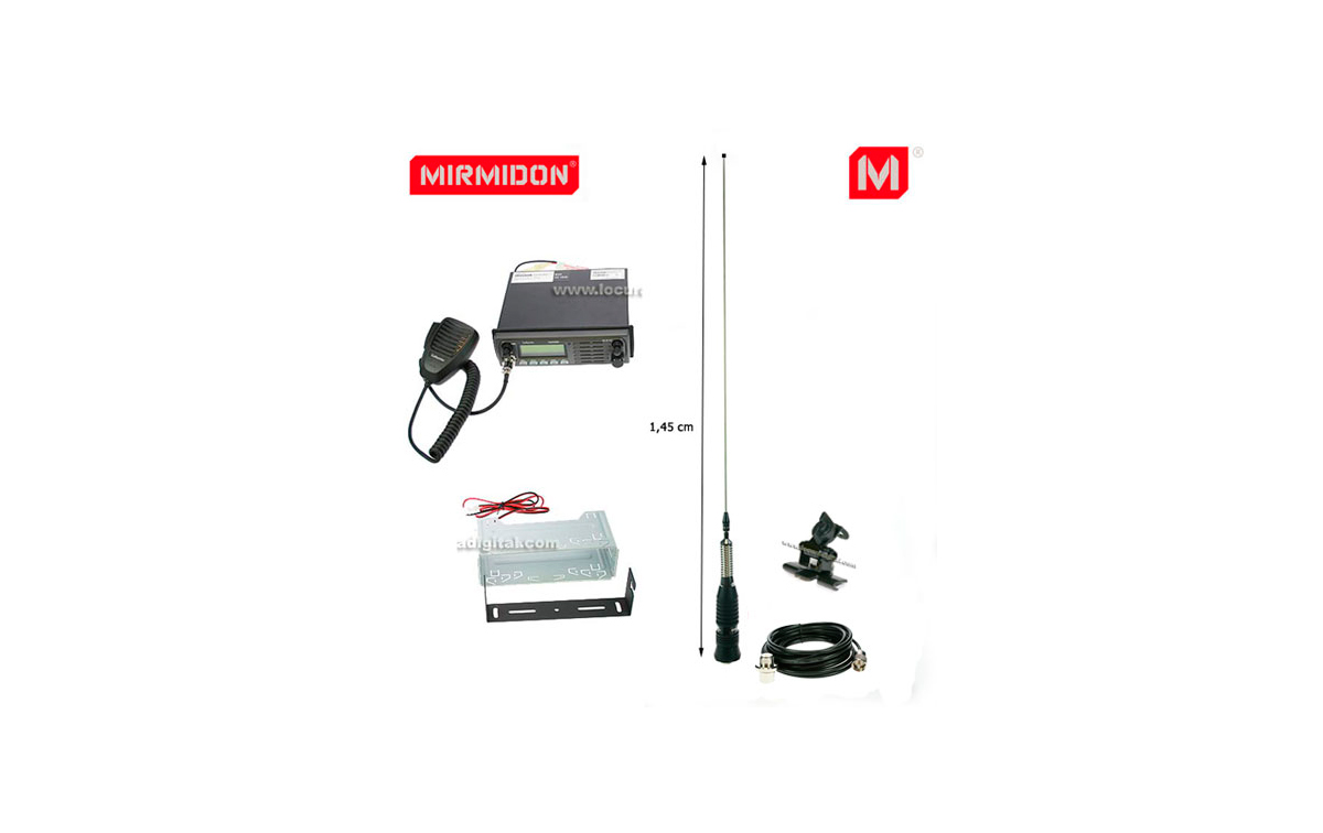 TRUCKER- KIT1 LAFAYETTE emisora CB 27 Mhz. + ANTENA MIRMIDON BRAVO-150 + SOPORTE SP100 + BASE ANTENA