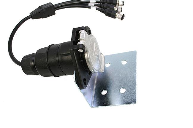 brv-1024 conector con soporte especial para remolques ycuatrocables conexiones a camaras