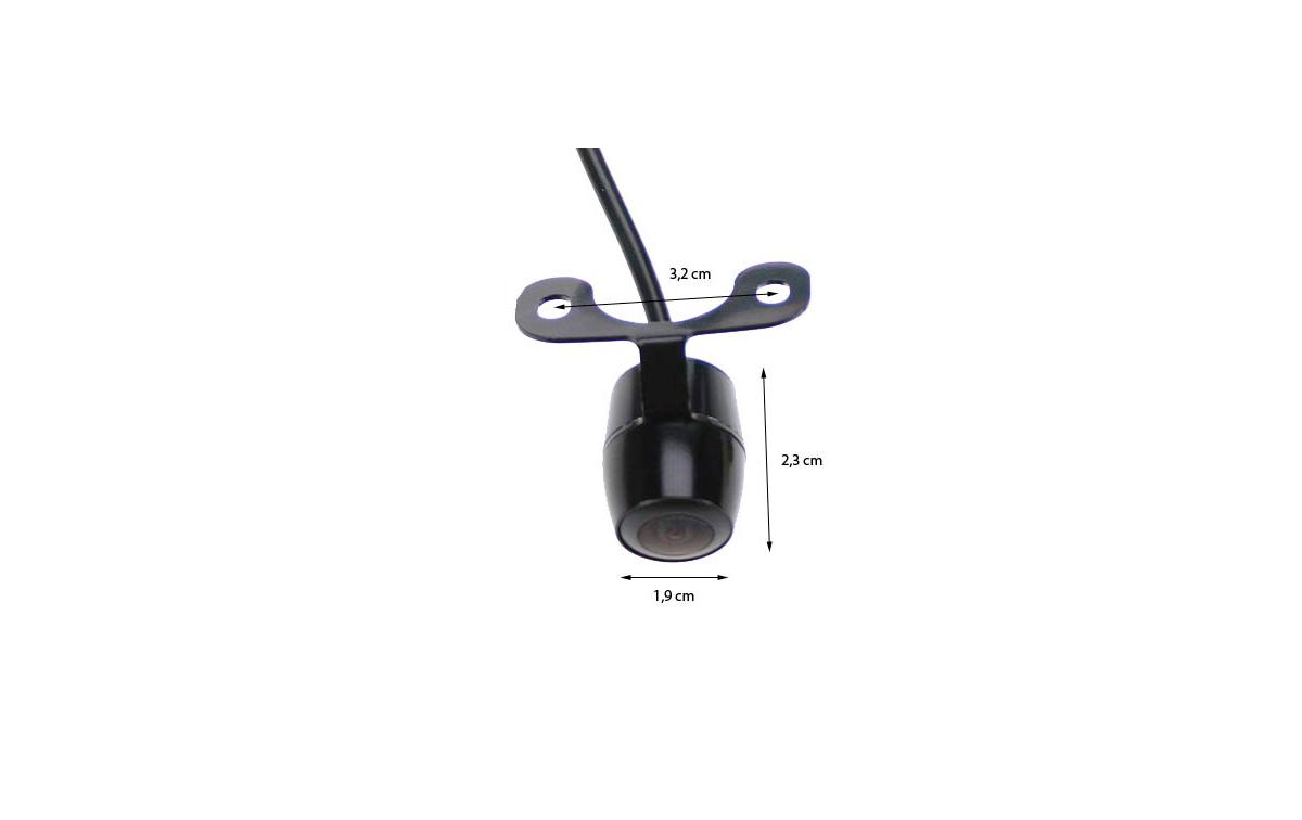 BRV170 BARRISTER cámara visión trasera miniatura conexion RCA voltage 12 voltios
