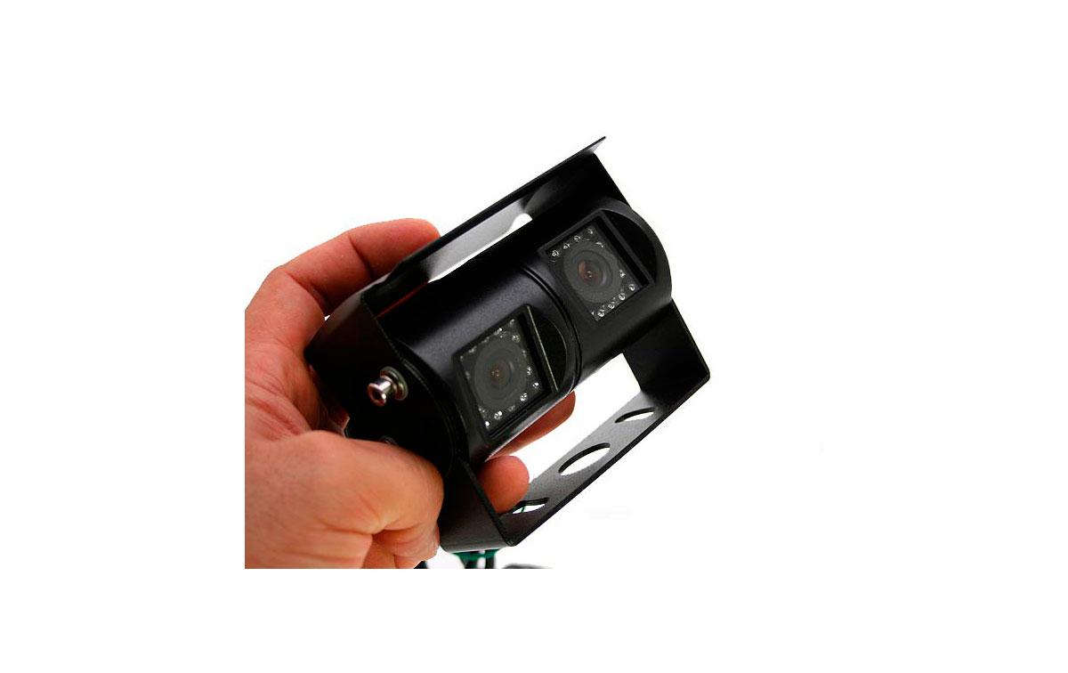 BRV463 BARRISTER doble cámara de visión trasera articulada