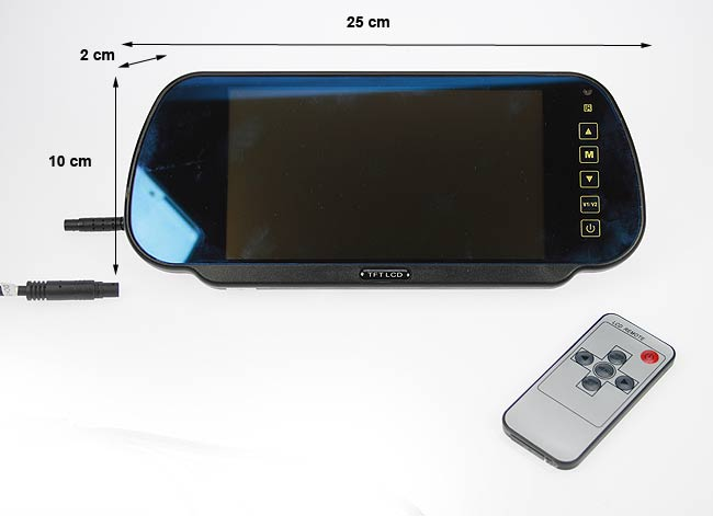 """BRV 500 BARRISTER monitor 7"""" tipo espejo retrovisor para el kit BRV5"""