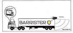 BRV520 BARRISTER Cámara marcha atras para sistemas de retrovisión.