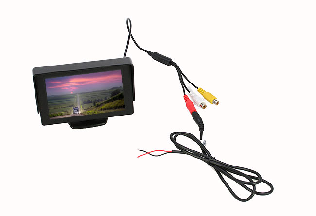 BRV543 BARRISTER Monitor 4,3 pulgadas. 2 canales, conectores RCA