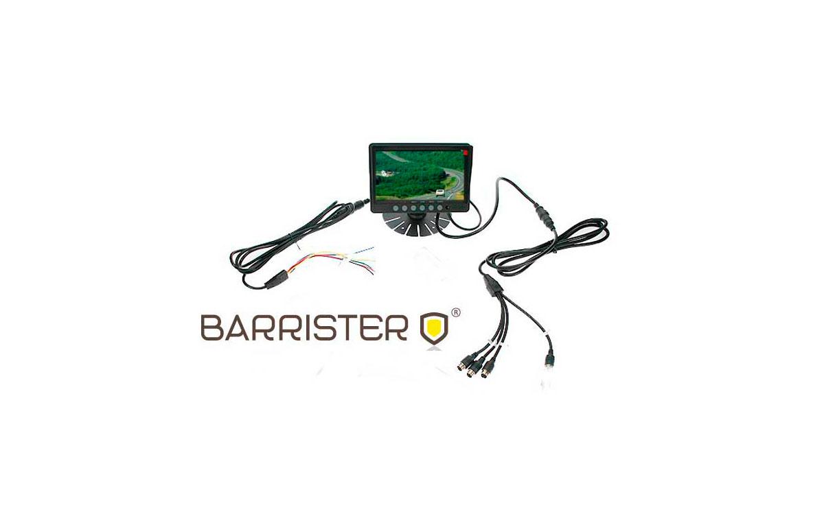 BRV900 BARRISTER monitor de 4 canales para kit BRV-9