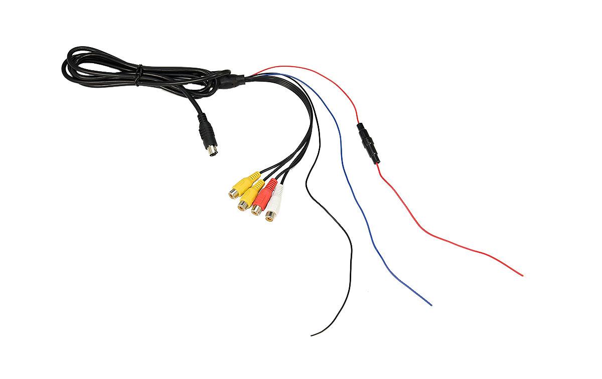 BRVC-540 Cable alimentación conexionados cámaras, monitor BRV-500, cable de alimentacion 12V cables conexion para 2 camaras RCA