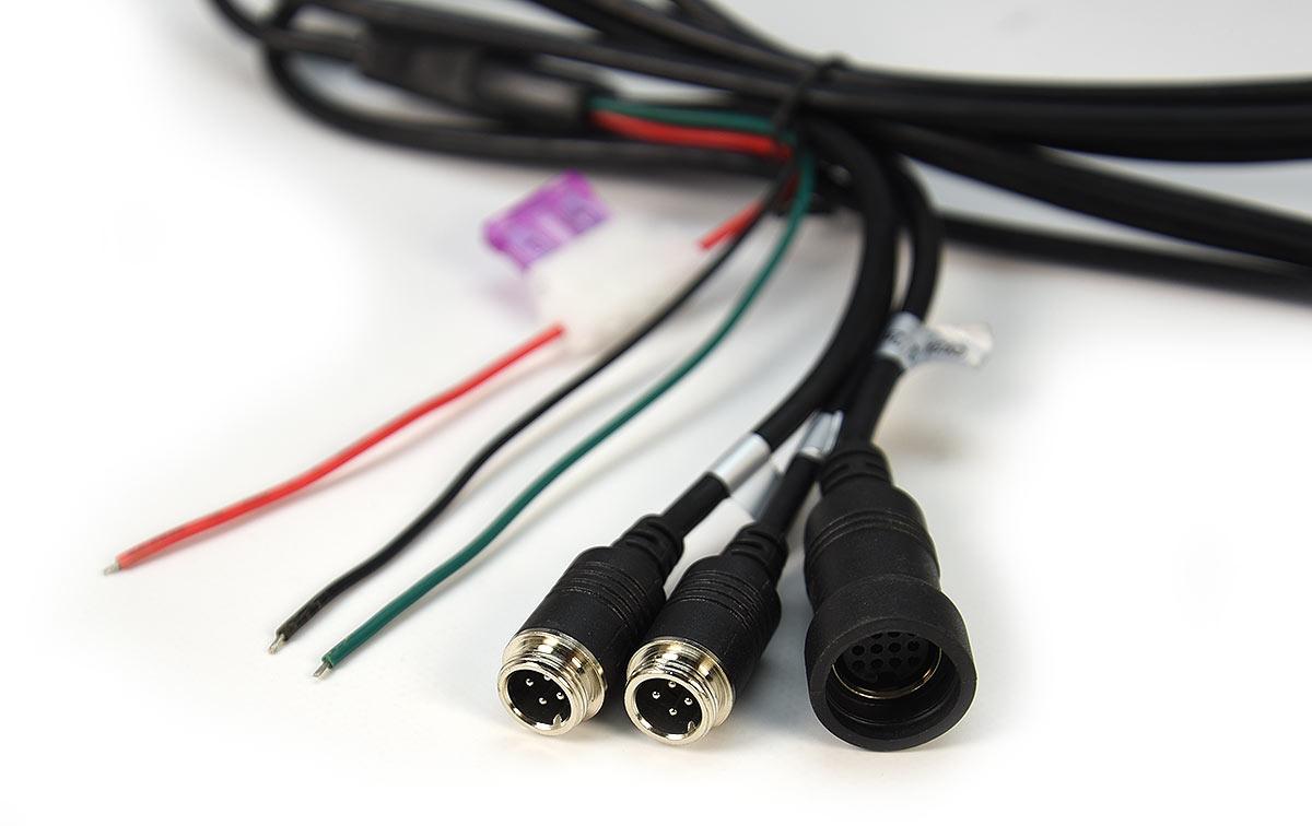 BRVC-715 Cable alimentación conexionados cámaras, monitor BRV700 y 515
