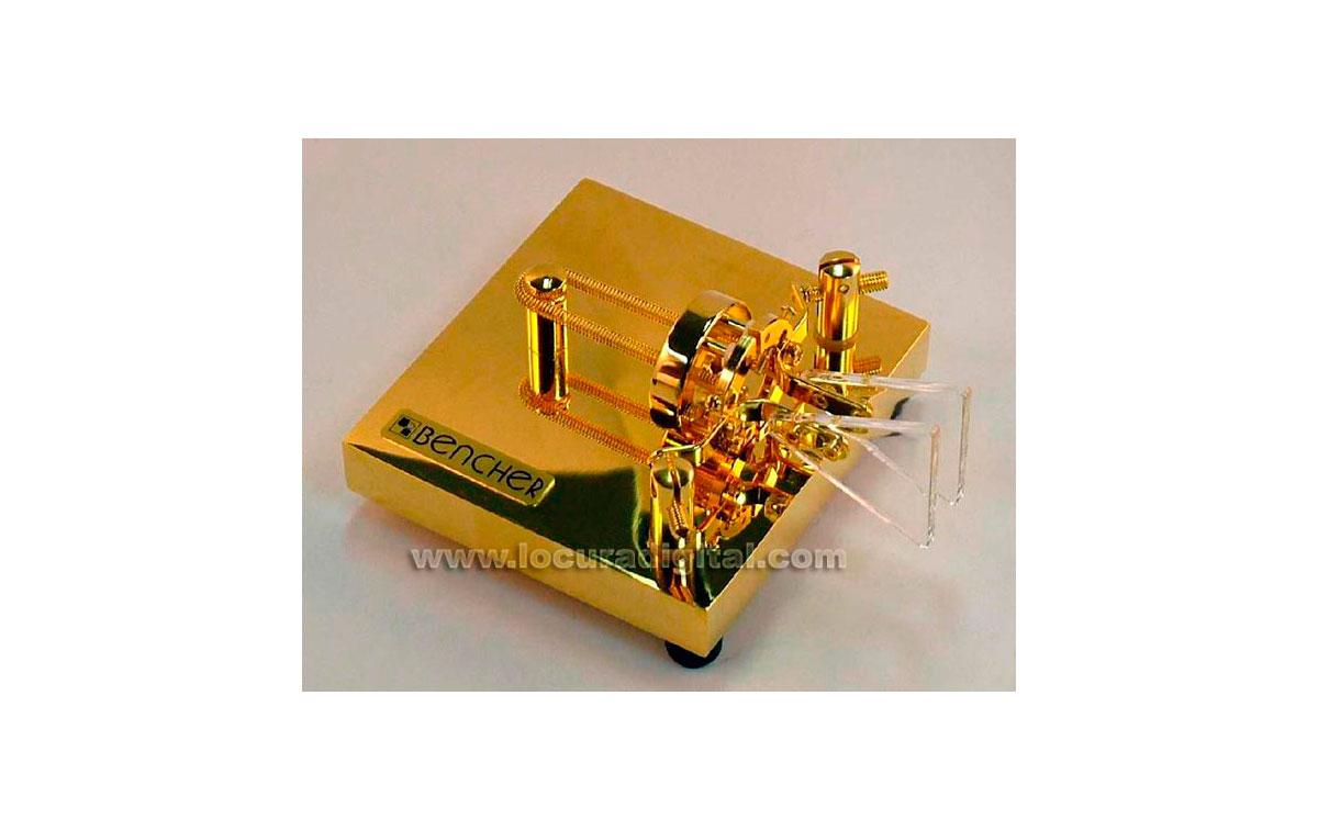 BENCHER-BY3  llave dorada tipo paleta telegráfica morse CW
