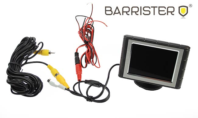 BARRISTER BRV2 KIT-1 Rear View Camera for reverse maneuvers CAMERA + 3.5inches Monitor