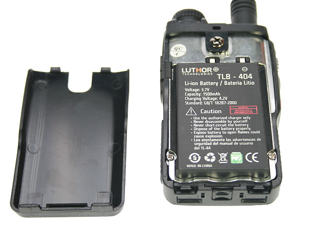 Luthor TLB-404 Lithium battery, 1,500 mAh. TL-44 walkie