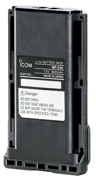 BP230 ICOM batería de litio ORIGINAL ICOM 7, 4 v capacidad 800 mah. para IC-F34G BP230N for IC-F15, IC-F15S, IC-F25, IC-F25S, IC-F25SR, IC-F34GS, IC-F34GT, IC-F44GS, IC-F44GT, IC-F4029SDR, IC-F3022S, IC-F3022T, IC-F4022S, IC-F4022T, IC-F3162S and IC-F3162.