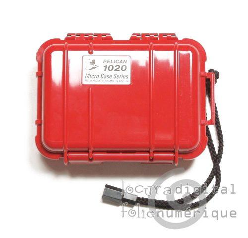 1020-025-170 Micro-Maleta de protección Rojo - Opaca