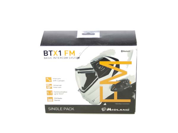 BTX1FMSINGLE MIDLAND manos libres-intercomunicador para moto bluetooth