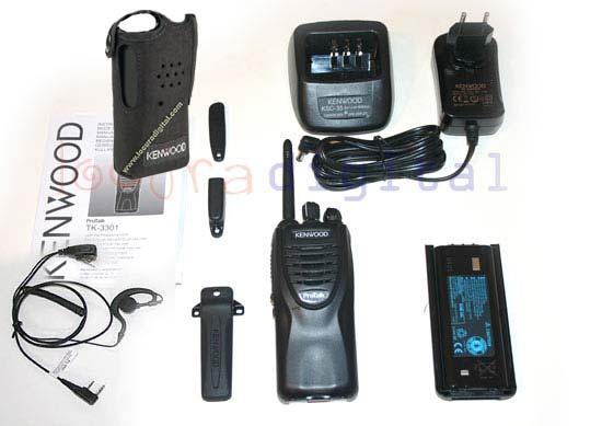 KENWOOD TK-5 NEW 3301 MODEL KIT FREE USE WALKIE + earpiece + ORIGINAL CASE KENWOOD KLH131