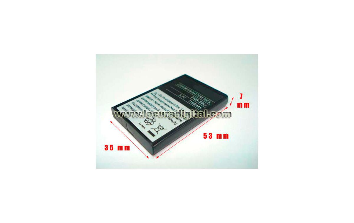 YAESU FN82 LI EQ. BATERIA EQUIVALENTE para YAESU VX 2voltage  3.7v. capacidad 1100 mAh. LITIO