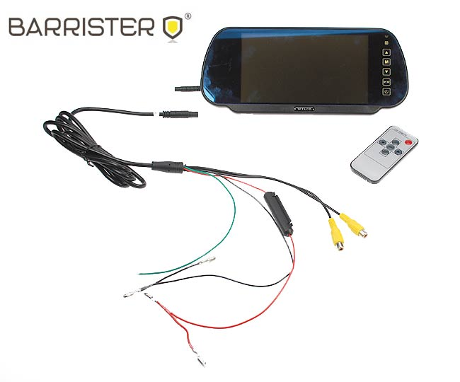 """BRV-500 BARRISTER monitor 7"""" tipo espejo retrovisor para el kit BRV5"""