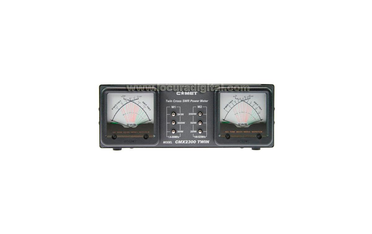 COMET CMX-2300 TWIN Medidor ROE y wattimetro doble 1,8-60 - 140-525 Mhz