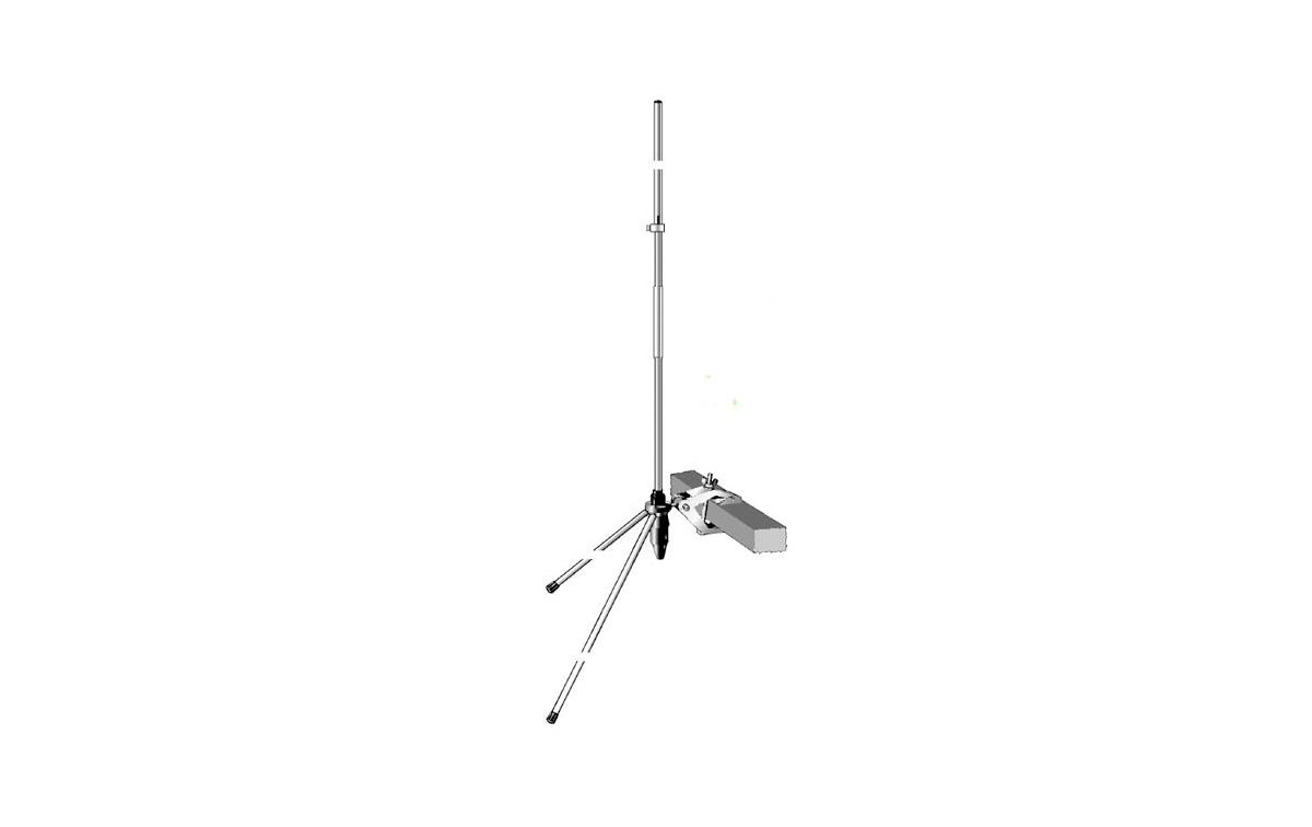 UNIVERSAL144 SIGMA Antena balconera VHF 144-146 Mhz, long. 80 cms.