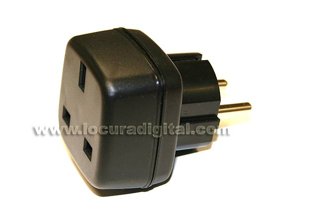 MOD319 plug adapter European male to female network UK