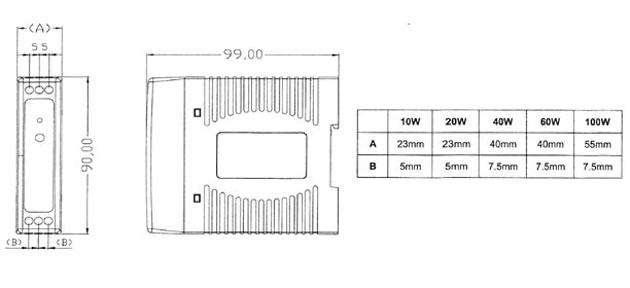 asg1024 lafayette fuente alimentación conmutada tipo rail din potencia 10w,voltage 24 volts