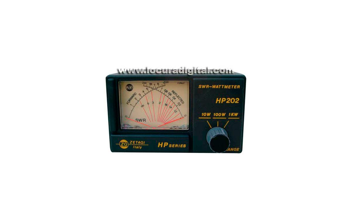 ZETAGI HP202 Medidor R.O.E. / Watimetro 2000 w. 26-30 Mhz.