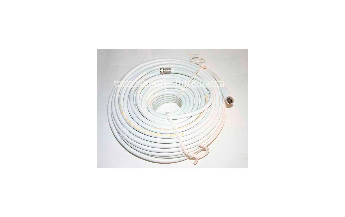 REF. CA 1901D. CABLE COXIAL PARA PARABOLICA 20 MTS+ 2 CONECTORES F